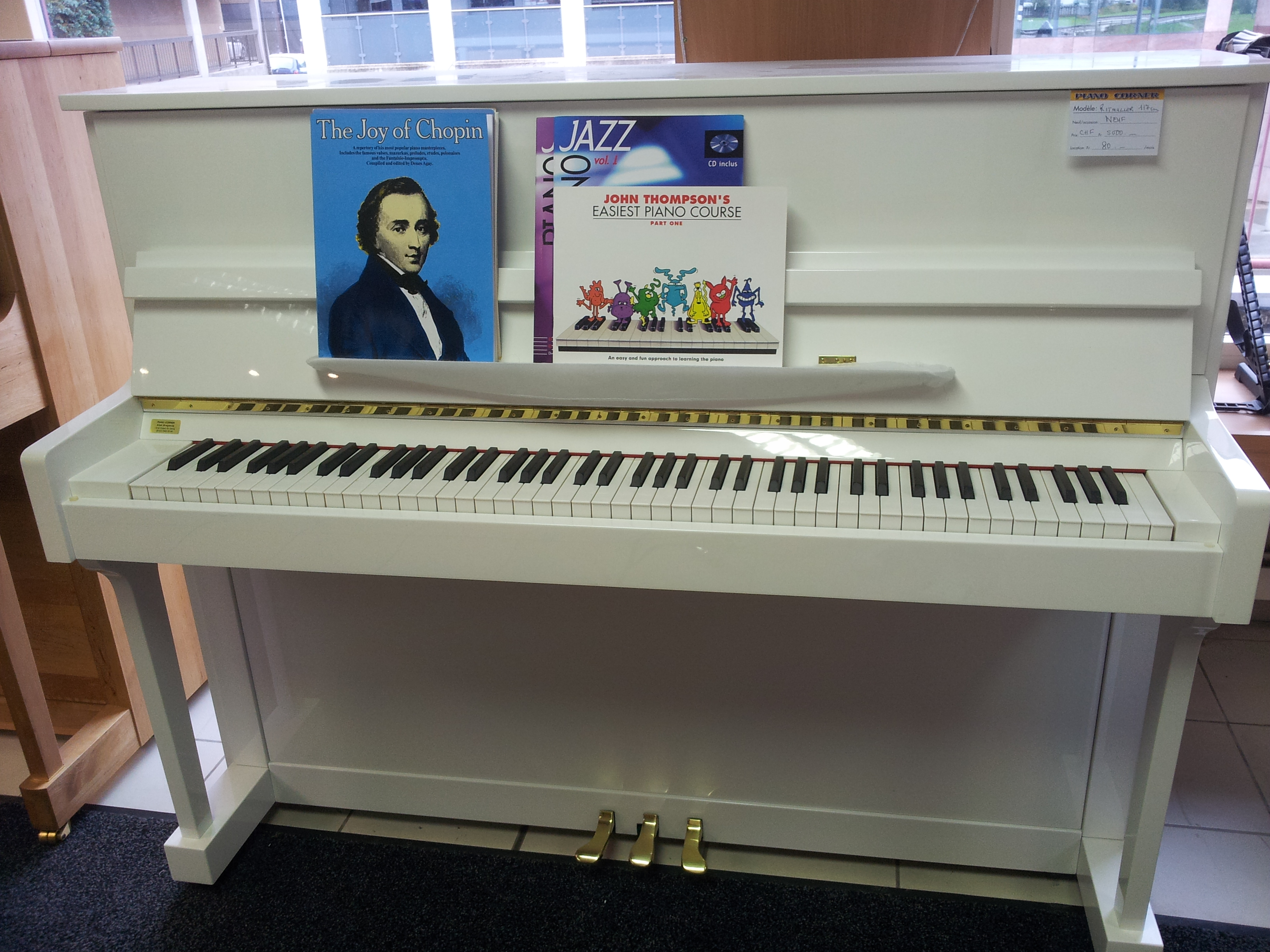Vente de pianos neufs